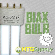 2 T5 BIAX 6400K GROW LIGHT BLUE BULB LAMP F55T5 T-5 two