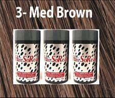 HSR HairSoReal HAIR LOSS CONCEALER Fibers MEDIUM BROWN 3 Pack SAME DAY SHIPSFREE