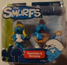 Smurfs smurfette and harmony smurf figure 2 pack movie new
