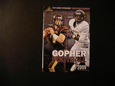 Minnesota Gophers 2009 NCAA football pocket schedule - State Farm