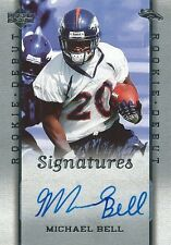 (HCW) 2006 Upper Deck Rookie Debut $15 Mike Bell Auto Rookie RC Autographs 01099