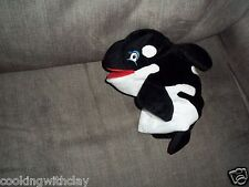 Shamu Killer Whale Orcha Puppet Plush Doll Figure Play Pretend Fun Toy