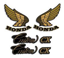 HONDA 1983 '83 CX650 CX 650 CUSTOM TANK AND REAR FENDER SIDE DECALS GRAPHICS SET