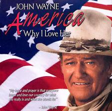 THE DUKE America Why I Love Her, John Wayne, CD FLAG Pledge of allegiance, pride