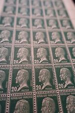 FEUILLE SHEET TIMBRE PASTEUR N°172 x50 1923/1926 NEUF ** LUXE MNH COTE 285€