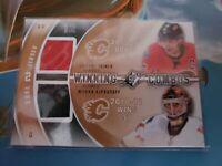 1x - 2010/11 Spx Winning Combos Iginla Kiprusoff Jersey