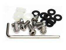 21-Pc Sport Line Anti-Theft Stainless Steel Rear License Plate Screw Kit for BMW