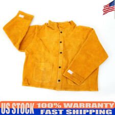 New Flame retardant welding work clothes Leather Welding Safety Jacket Coat Usa