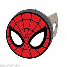 """NEW! Spiderman Web Face Logo Solid Metal Hitch Plug Fits 1 1/4"""" & 2"""" Receivers"""
