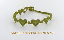 Genuine Italian Made Cruciani Bracelet-HEARTS- Olive Green