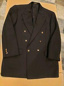 Vintage Oscar de la Renta Black Double Breasted Blazer VTG buttons, size 42