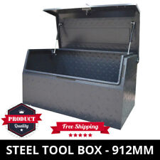 Steel Toolbox Checker Plate 900mm Heavy Duty Ute Tool Box ToolBox With Slant Lid