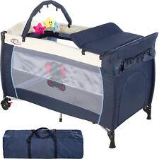 Lit bébé pliant parapluie avec accessoires lit de voyage réglable bleu