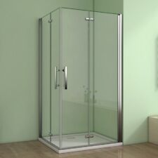 90x90cm Duschkabine Duschabtrennung Scharniertür Eckeinstieg Duschwand Nano Glas