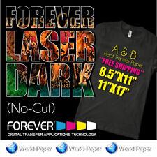 Forever Laser Dark No Cut A Foil B Paper 85 X 11 5 Sheets Heat Transfer Pap