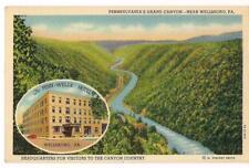 Penn-Wells Hotel PENNSYLVANIA'S Grand Canyon Near Wellsboro PA Postcard