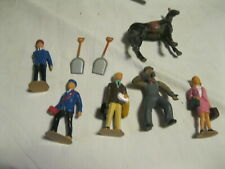 Lot 9 LGB Bachmann G Scale Assorted Train Conductor Commuter Figures