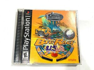 Pro Pinball: Big Race USA (Sony PlayStation 1, 2000) PS1 Complete w/ Manual CIB