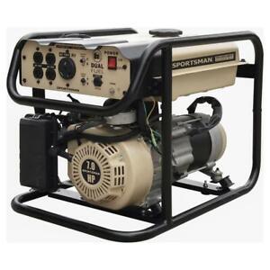 Sportsman Portable Generator 4000W 7 hp Dual Fuel Resettable Circuit Breaker