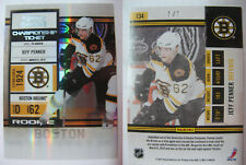 2011-12 Panini Contenders #134 Jeff Penner 1/1 ice blue 1 of 1 RC rookie bruins