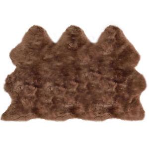 Lambland Super Size Extra Large Luxury Quality Sheepskin Rug Hide Brown UK Made