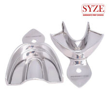 SYZE New Denture Solid Stainless Steel Small Upper and Lower Trays Set of 2 Pcs