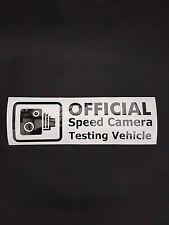 Official Speed Camera Testing Vehicle Vinyl Sticker Decal JDM Honda