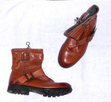 KOAH bottines plates zippées  cuir cognac P 37 TBE