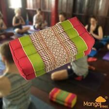 Yoga Block Meditation Cushion Pillows Pilates Prop Bolster Neck massage Red