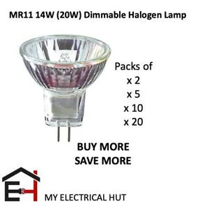 10 x Eco MR11 16W(20W) Halogen Dimmable Energy Saving Spot Lamp