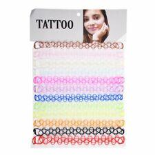 12Pcs Retro Stretch tattoo Lace Choker Necklace Gothic Elastic Plastic Necklace