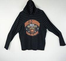 Harley Davidson Hoodie Lightweight Women's Knit Top Long Sleeves Large Logo