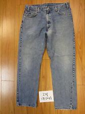 Used 505 regular fit straight leg levi's jean tag 36x30 meas 34x29.5 zip9541