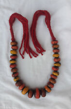 Tribal Beads Handmade Jewlery 21 Berber Amber Necklace Moroccan Vintage African