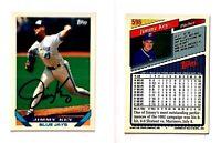 Jimmy Key Signed 1993 Topps #596 Card Toronto Blue Jays Auto Autograph