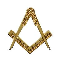 Freemasons Gold Coloured Square & Compass Masonic Lapel Pin LP85