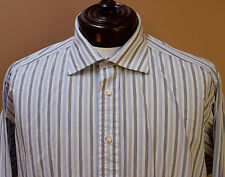 Burberry London Long Sleeved Button Front Dress Shirt French Cuff sz 17.5     ZZ