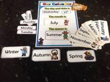 Teddy Bear Calendrier affichage gardienne Nursery date mois saison Affichage Sen CD