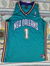 Baron Davis Nike New Orleans Hornets Swingman Vintage Basketball Jersey Sz XL