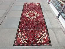Vintage Traditional Hand Made Oriental Red Wool Long Narrow Runner 280x100cm
