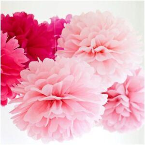ABVERKAUF!!!!PomPoms 10 Stück DIY Kugelblume Dekoration 25cm Durchmesser - Rosa