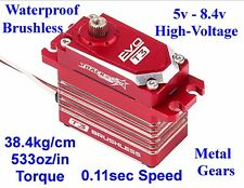 EVO T3 BRUSHLESS WATERPROOF HIGH-TORQUE-SPEED MG HV 1/8 1/10 4WD RC RACING SERVO