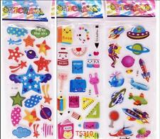 3 sheets study Scrapbooking Stickers lot Kids Crafts favor Party toys Xmas gift
