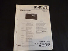 Original Service manual Sony ICF-m350s
