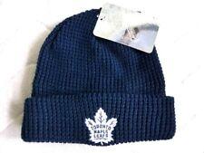 TORONTO MAPLE LEAFS Navy Waffle CUFF Beanie Toque Hat Ice Hockey Canada TAG NHL