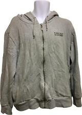 PRE-OWNED Mens Firetrap Grey Hooded Drawstring Jumper Size XX-Large RM280