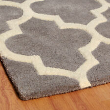 Brook Lane Rugs Arabesque Hand-tufted Grey Area Rug 120x170
