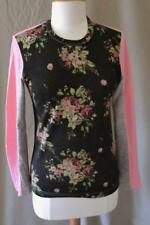 Comme des Garcons Black, Pink and Gray Floral Knit Top Size XS