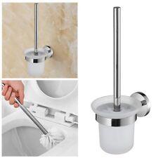 Edelstahl WC-Bürste, Bad Wandmontage WC-Garnitur, Toilettenbürste, Bürstenhalter