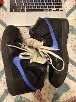 RARE Nike Dunk High 2009 Black-Varsity Royal-White Safari Mens Sz 9 344648-041